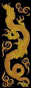 K053 Hokusai Drache Gold links